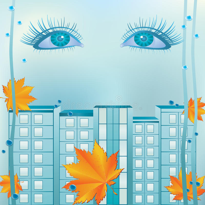 ландшафт глаз урбанский иллюстрация вектора