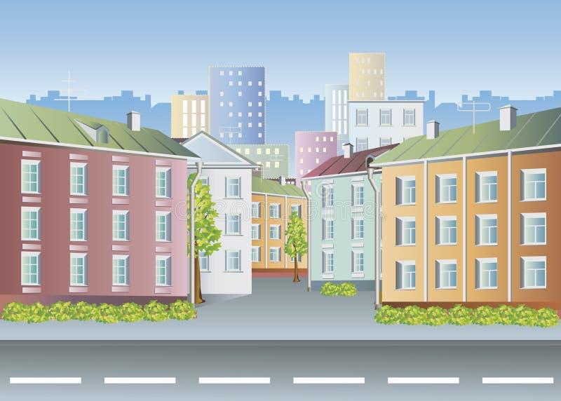 ландшафт города бесплатная иллюстрация