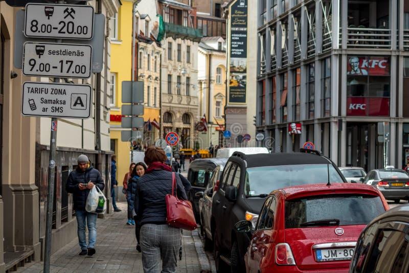 Ландшафт города latvia riga стоковые фотографии rf