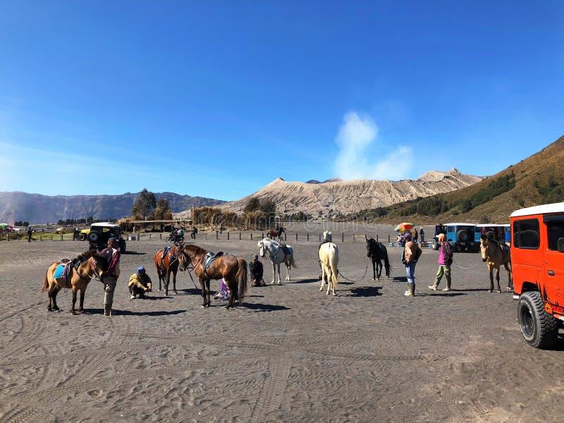 Ландшафт горы вулкана Bromo на Индонезии стоковое фото