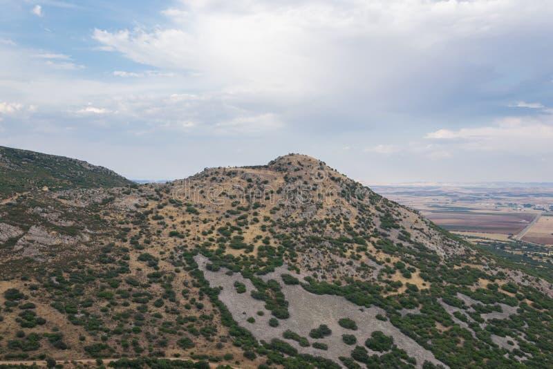 Ландшафт горы в Ла Mancha Кастилии Испания стоковые изображения