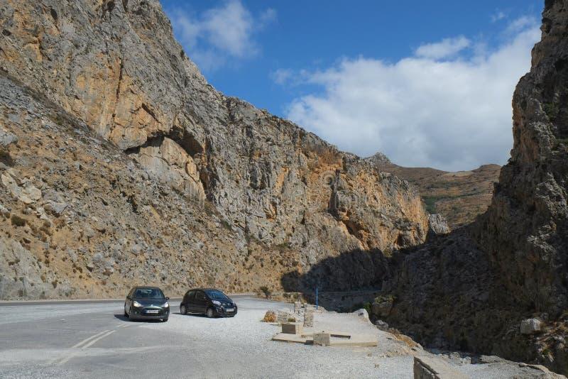 Ландшафт горы Крита стоковое изображение