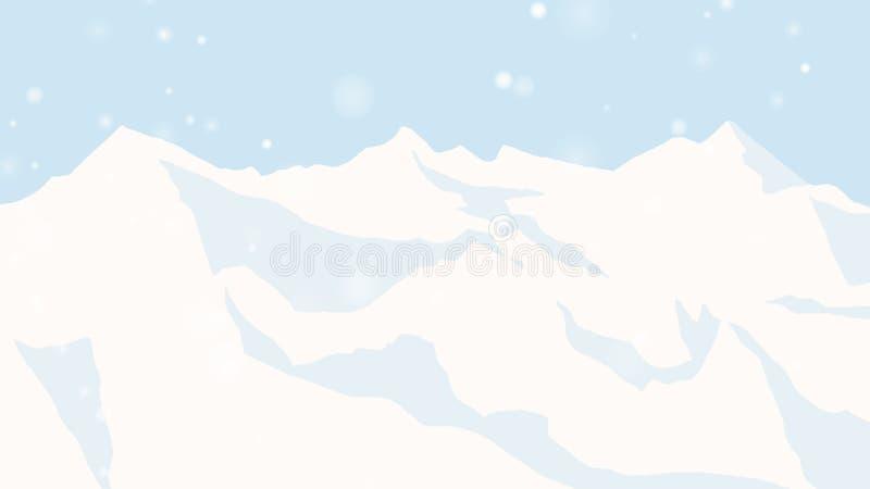 Ландшафт горы льда со снежностями бесплатная иллюстрация