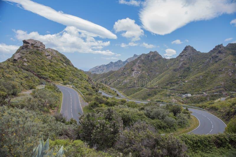 Ландшафт горы на тропическом острове Тенерифе, канерейке в Испании стоковые изображения