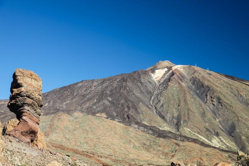 Ландшафт горы Тенерифе остров вулканический Холмы и долины стоковое фото rf