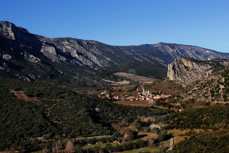 Ландшафт горы южная Франция стоковая фотография rf