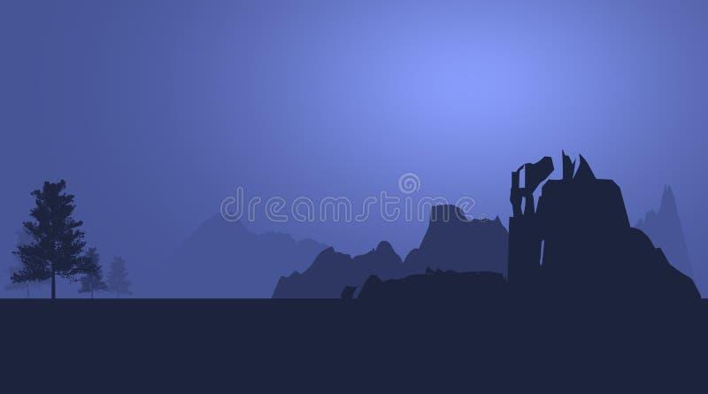 Ландшафт гор абстрактный иллюстрация штока