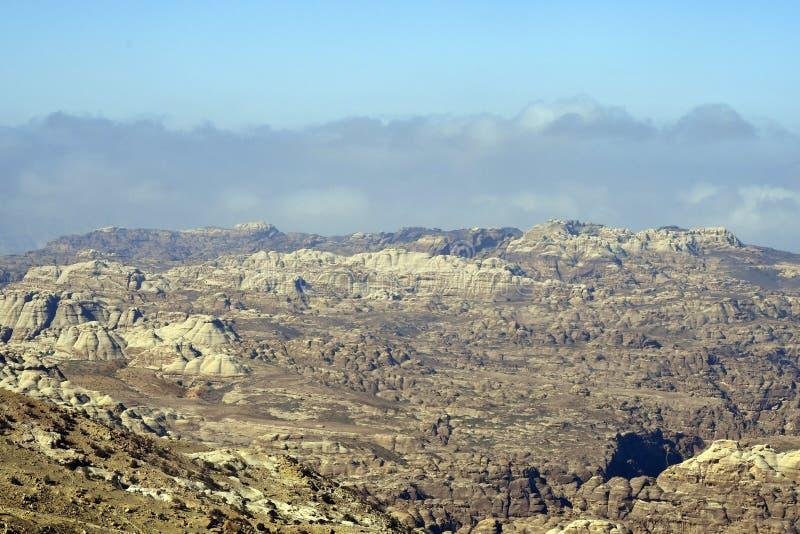 Ландшафт Джордан, Ближнего Востока, засушливых и скалистых стоковые изображения rf