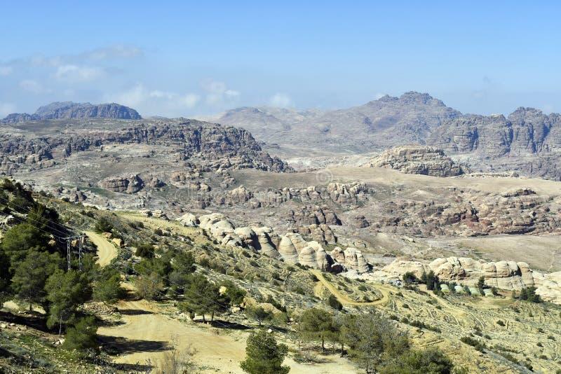 Ландшафт Джордан, Ближнего Востока, засушливых и скалистых стоковое фото