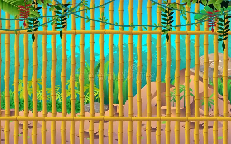 Ландшафт джунглей бесплатная иллюстрация