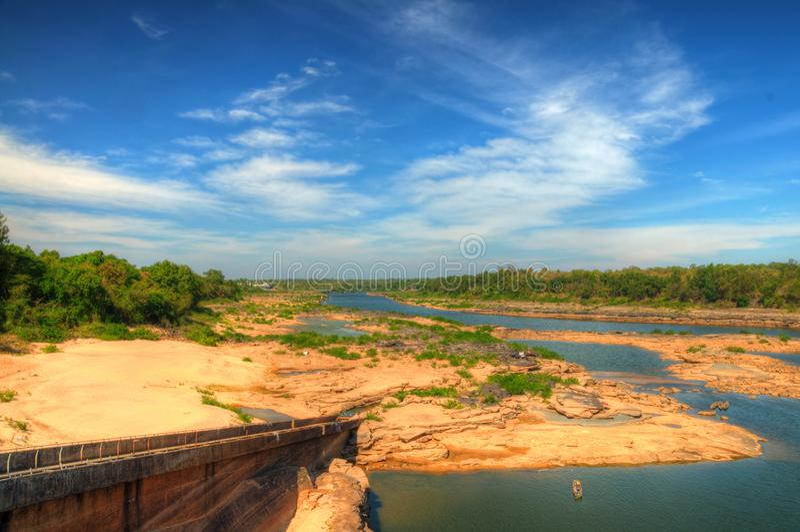 Ландшафт запруды Pakmun стоковое фото rf