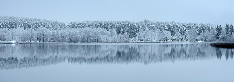 Ландшафт зимы Литвы заречье moscow один панорамный взгляд стоковая фотография rf