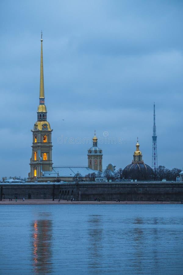 Ландшафт зимы Sankt-Peterburg стоковое фото rf