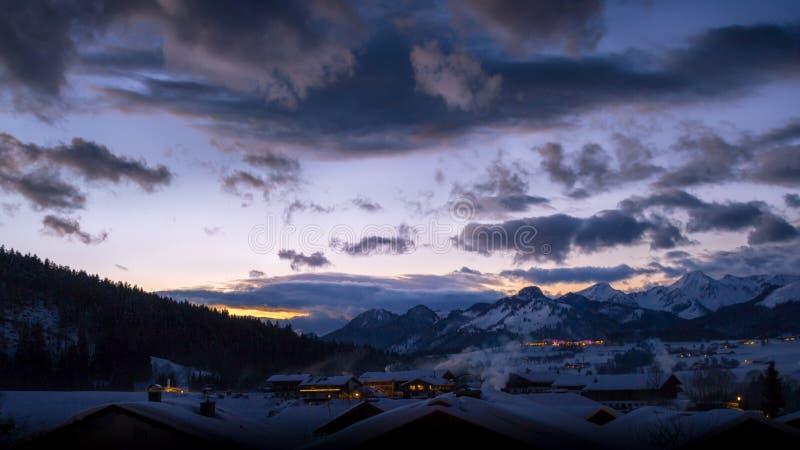 Ландшафт зимы Snowy стоковое фото