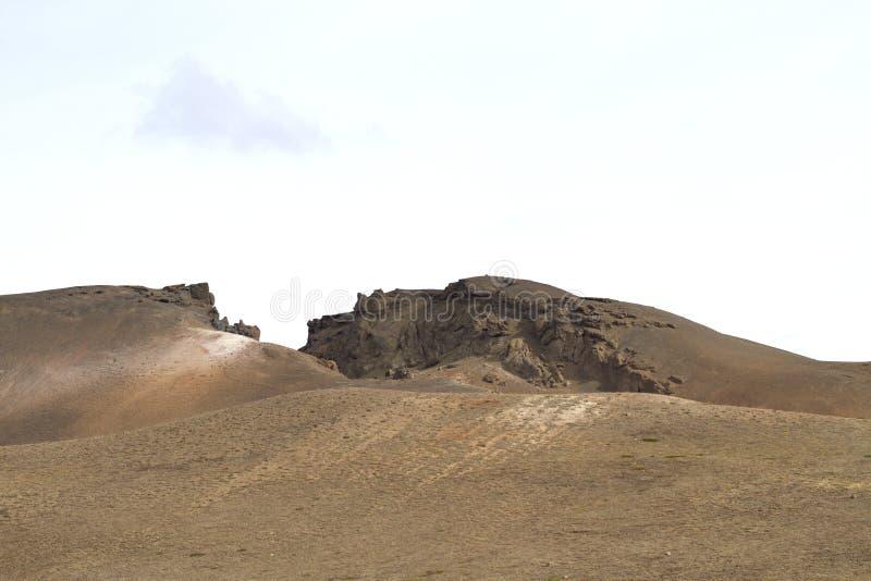 ландшафт Исландии вулканический стоковое фото