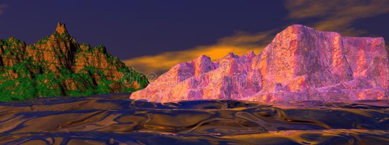 Ландшафт и гора бесплатная иллюстрация