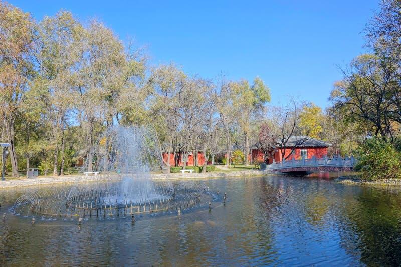 Ландшафт кампуса стоковое изображение