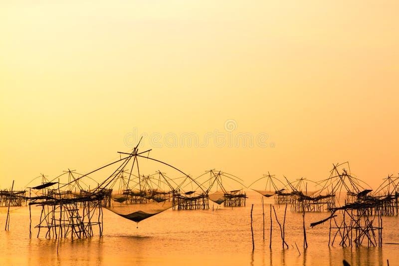Ландшафт квадратной сети погружения или languagemade YoThai бамбука стоковое фото