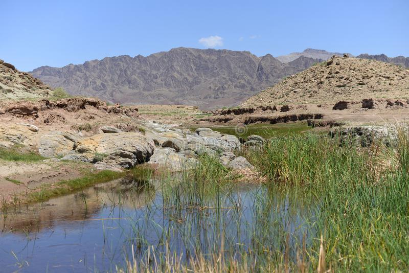 Ландшафт красивой скалистой горы стоковое изображение rf