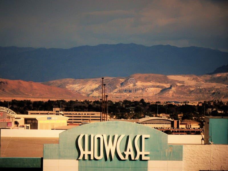 Ландшафт Лас-Вегас витрины стоковое изображение rf