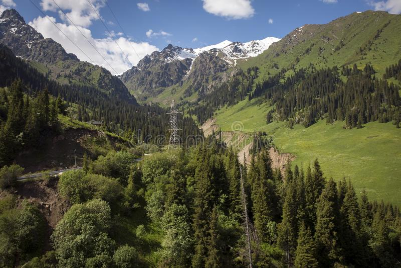 Ландшафт лета в горах стоковое фото rf