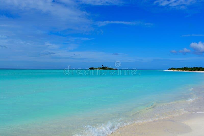 Ландшафт Мальдивов стоковые фотографии rf