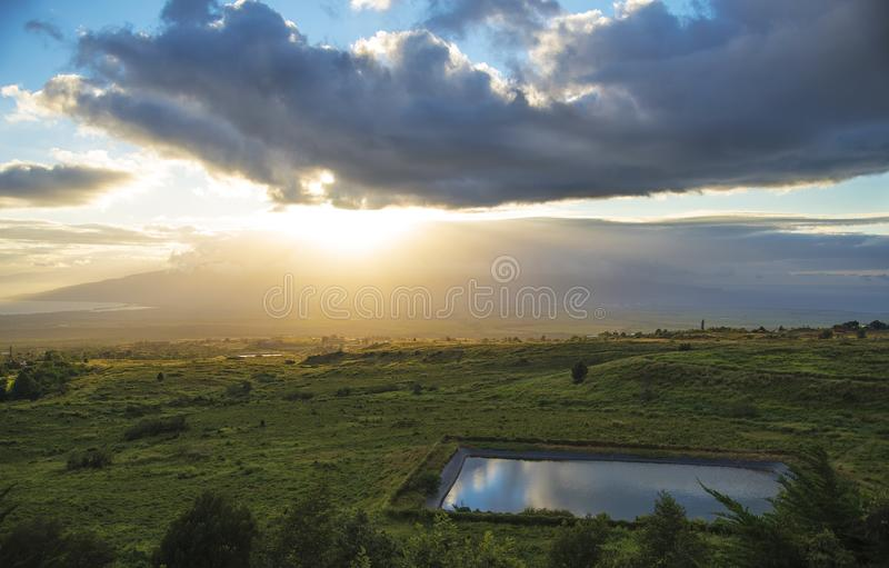 Ландшафт Мауи стоковое фото rf