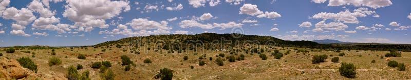ландшафт Мексика fe около новой панорамы santa стоковые изображения rf