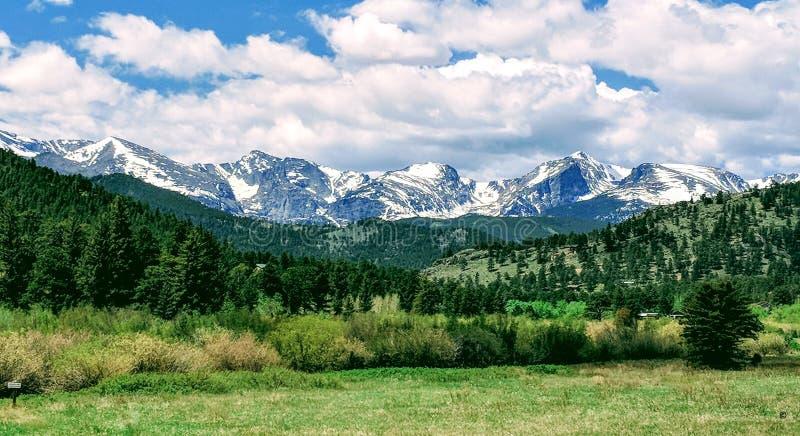 Ландшафт национального парка скалистой горы стоковое фото rf