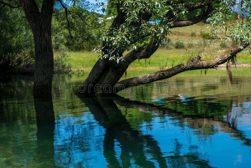 Ландшафт озера Барреа, Абруццо, Италия стоковое изображение