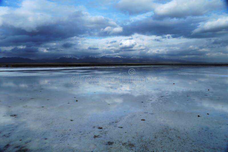 Ландшафт озера сол Chaka стоковые фотографии rf