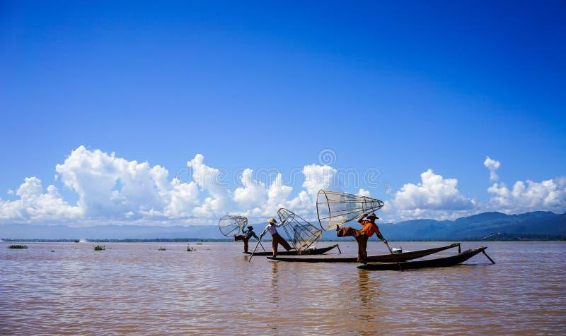 Ландшафт озера Inle, Мьянмы стоковое изображение