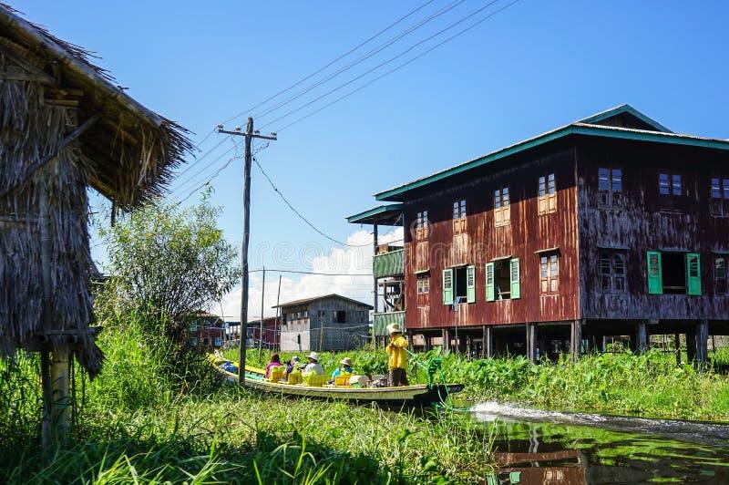 Ландшафт озера Inle, Мьянмы стоковое фото