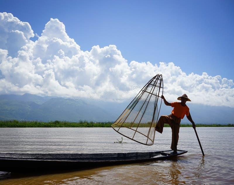Ландшафт озера Inle, Мьянмы стоковая фотография