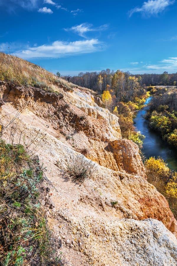 Ландшафт осени Область Новосибирска, западный Сибирь, Россия стоковое фото rf