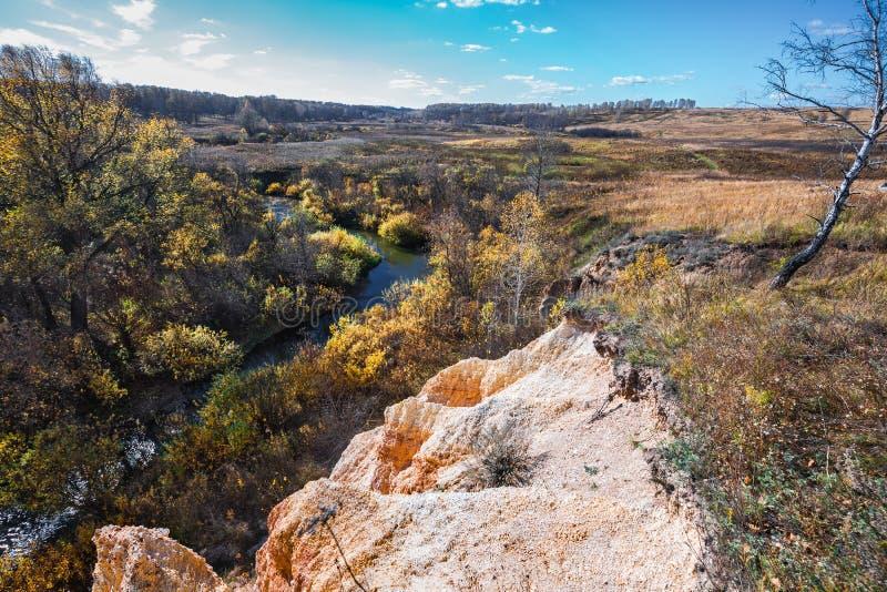 Ландшафт осени Область Новосибирска, западный Сибирь, Россия стоковая фотография rf