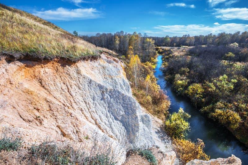 Ландшафт осени Область Новосибирска, западный Сибирь, Россия стоковое фото