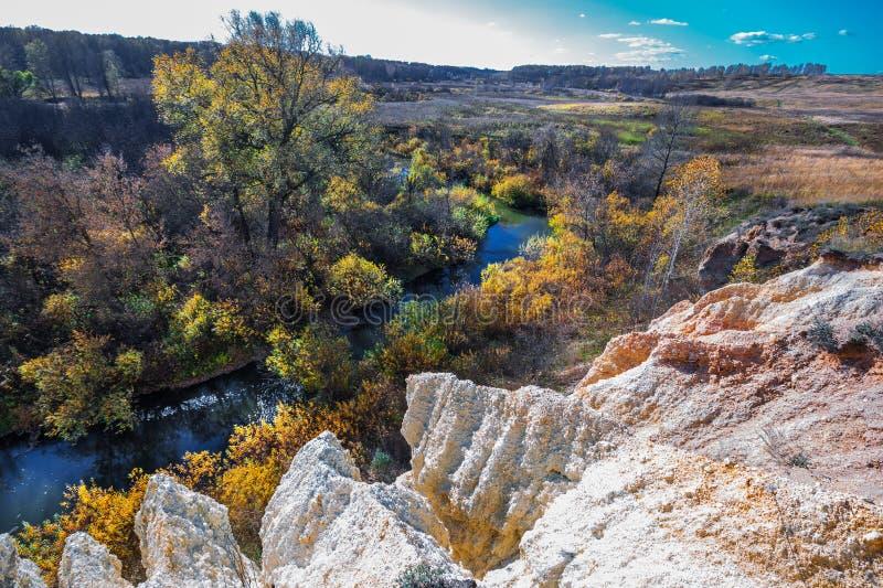 Ландшафт осени Область Новосибирска, западный Сибирь, Россия стоковое изображение
