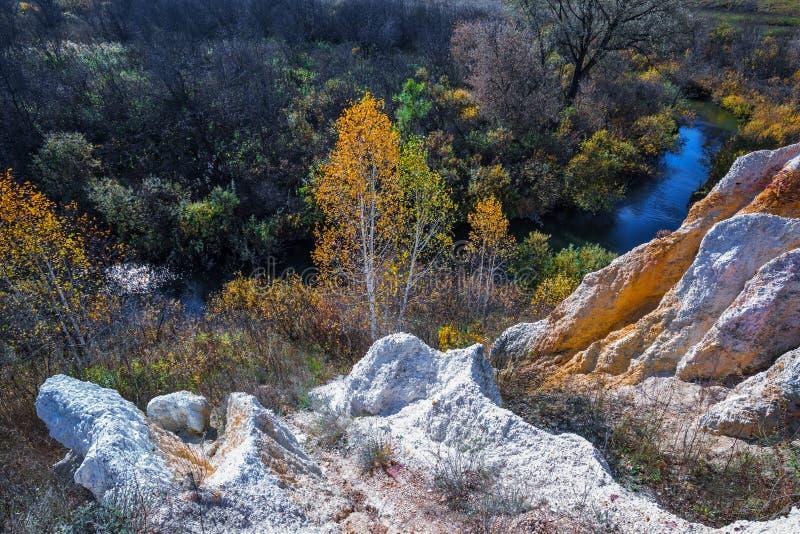 Ландшафт осени Область Новосибирска, западный Сибирь, Россия стоковая фотография