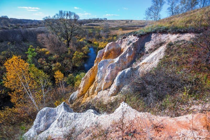 Ландшафт осени Область Новосибирска, западный Сибирь, Россия стоковые изображения