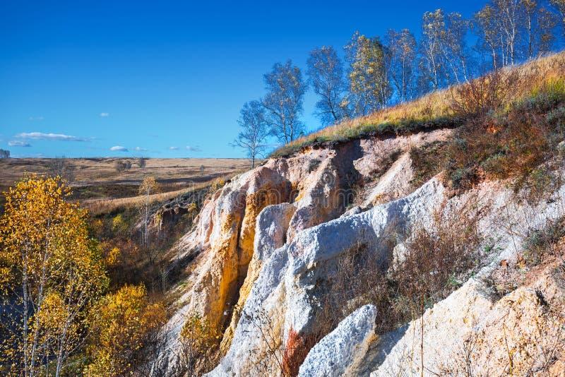 Ландшафт осени Область Новосибирска, западный Сибирь, Россия стоковые фотографии rf