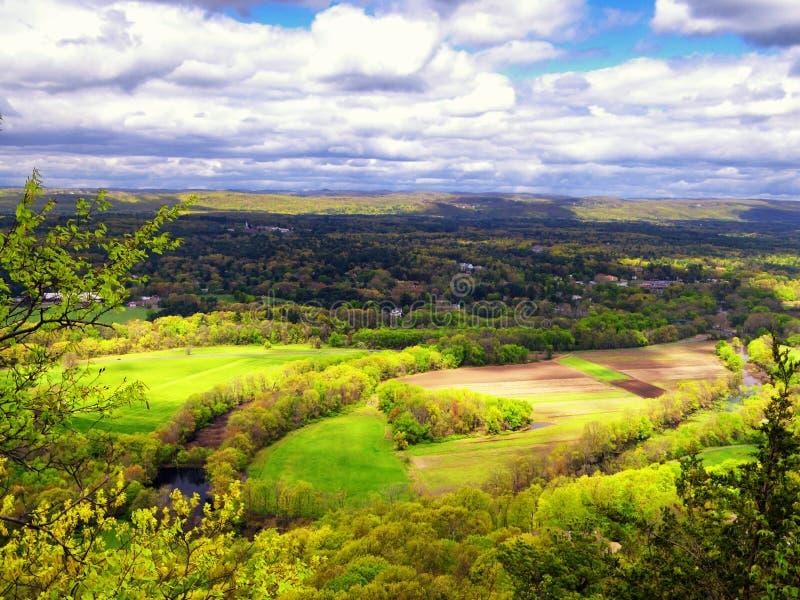 Ландшафт от горы Talcott стоковое изображение
