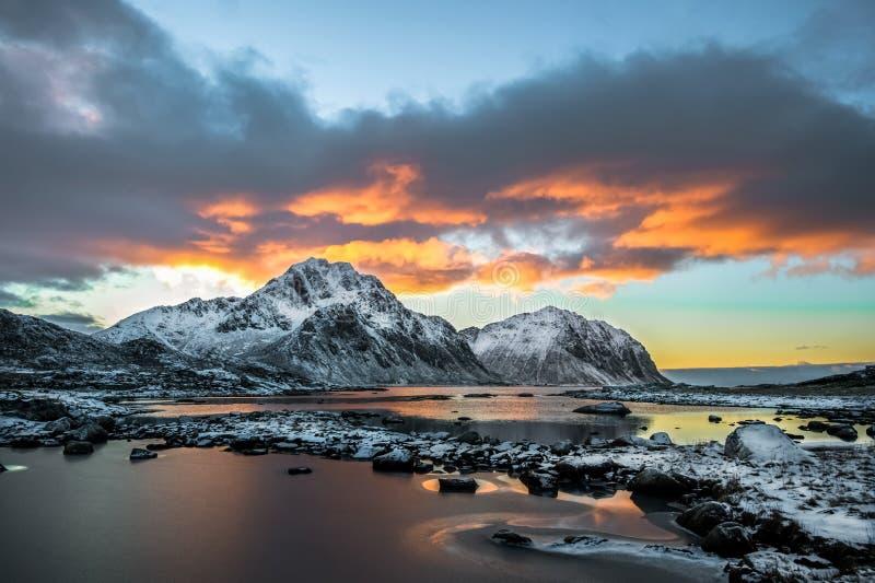 Ландшафт от Lofoten стоковое фото rf