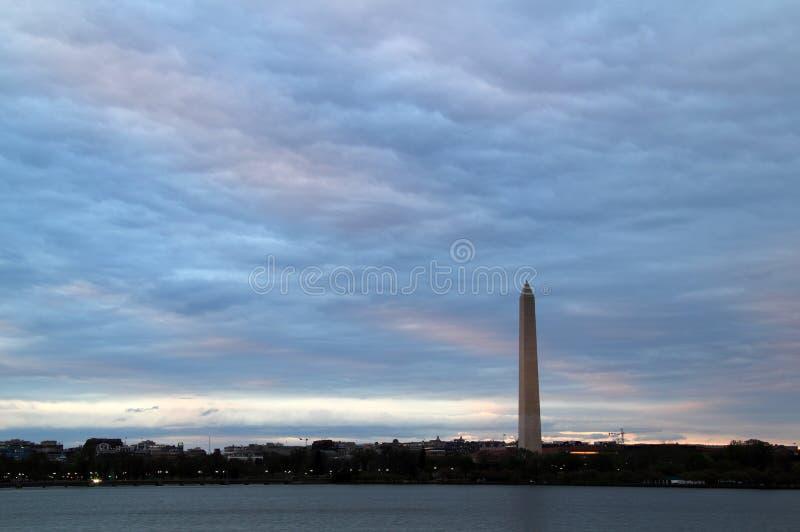 Ландшафт памятника Вашингтона в d C стоковая фотография