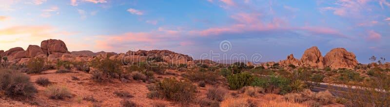 Ландшафт панорамы национального парка вала Иешуа. стоковое изображение