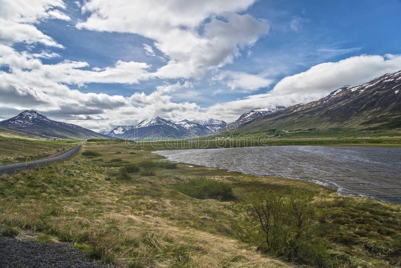 Ландшафт полуострова Trollaskagi стоковое изображение rf