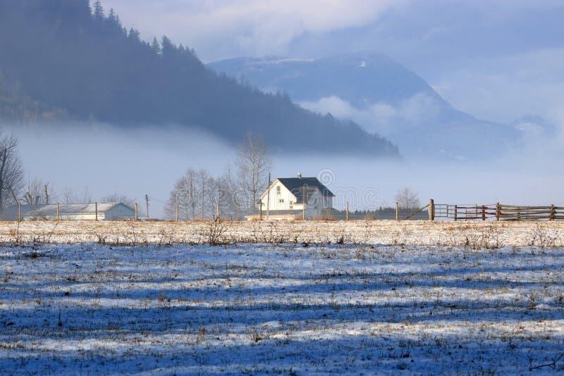 Ландшафт портрета сельской долины фермы стоковое фото rf