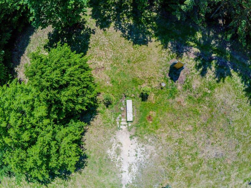 Ландшафт природного парка во Брне сверху, чехия стоковое изображение rf