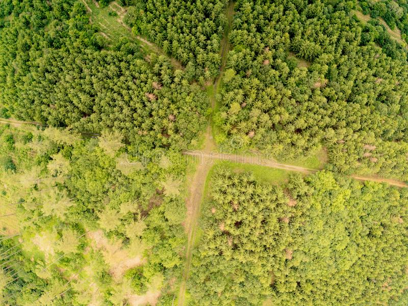 Ландшафт природного парка во Брне сверху, чехия стоковое изображение