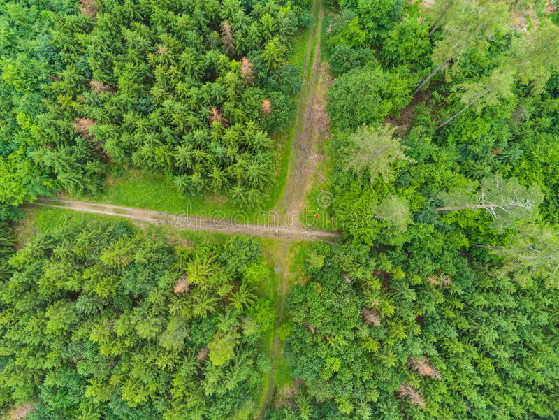Ландшафт природного парка во Брне сверху, чехия стоковая фотография rf